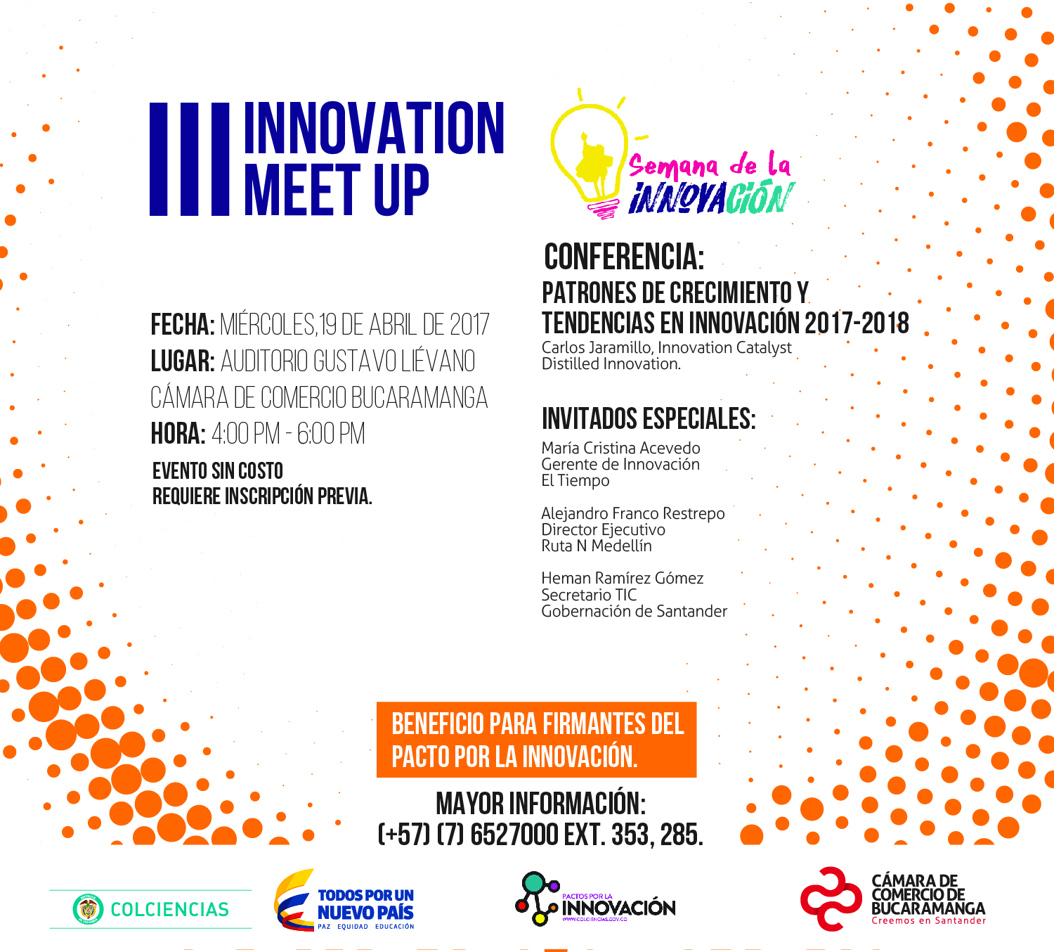 19 ABRIL INNOVATION MEET UP CCB