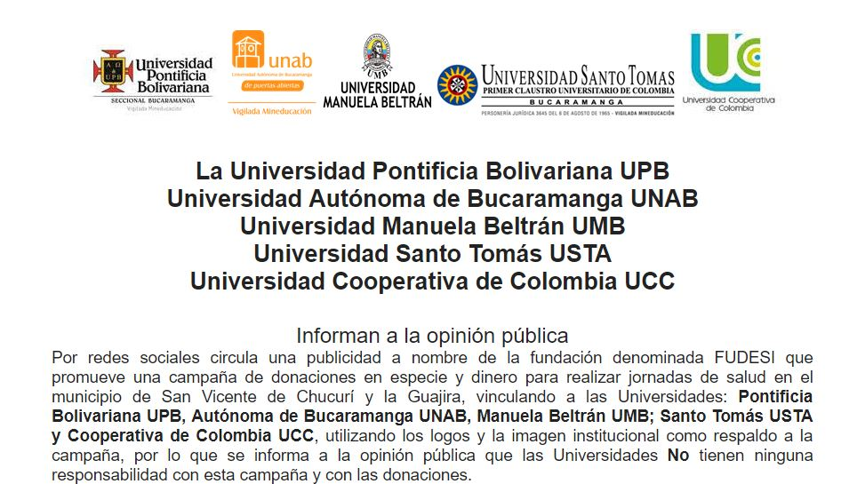 comunicado universidades